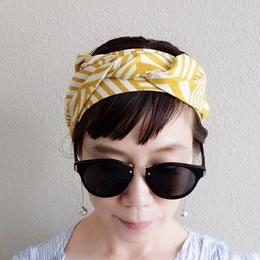head dress geometric mustard