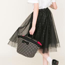 先行予約▶thomas magpie tulle skirt black dots