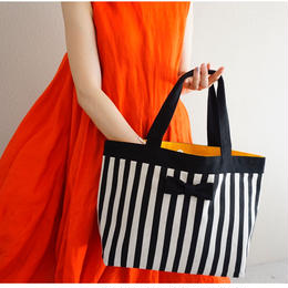 basic  tote  stripes black