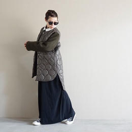 【先行予約】thomas magpie quilting coat khaki
