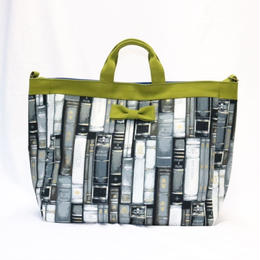 adjust strap tote antique books grey