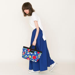 【online store限定】town mini tote 70's flower blue