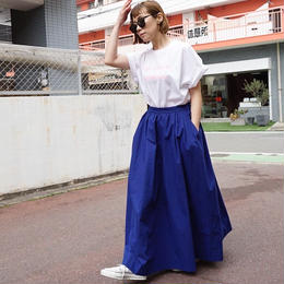 先行予約▶thomas magpie long skirt royal blue