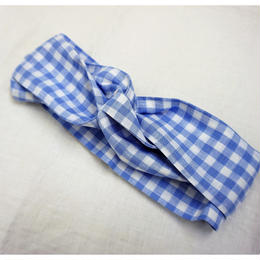 hesd dress gingham blue