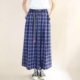 【先行予約】thomas magpie tartan check long skirt blue