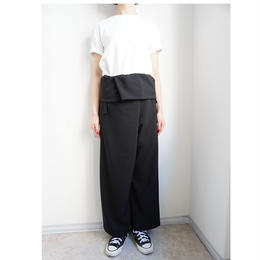 先行予約▶thomas magpie thai pants black