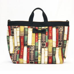 adjust strap tote antique books Multi