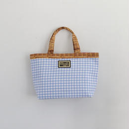 【2018 SS】basic tote gingham blue