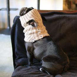 アラン模様のスヌード  /  Aran-knit Snood