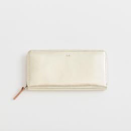 pop-up long wallet  /  silver