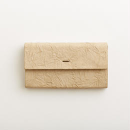 paper long wallet / light brown