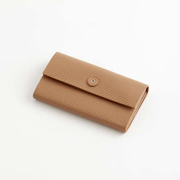 cardboard long wallet / l.brown