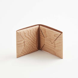 seamless short wallet / plywood