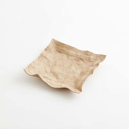 paper leather tray / light brown