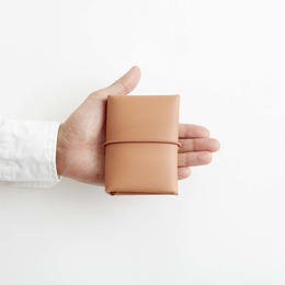 seamless mini wallet / nude
