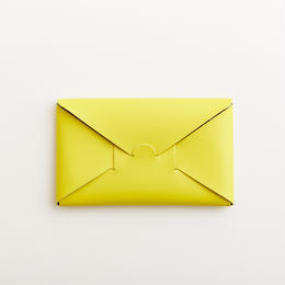 seamless long wallet / yellow