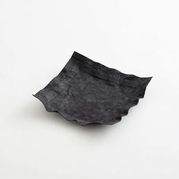 paper leather tray / black