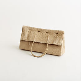 paper clutch bag / light brown