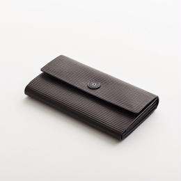 cardboard long wallet / black