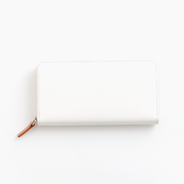 pop-up long wallet / white
