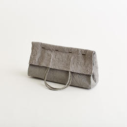 paper clutch bag / gray