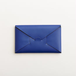 seamless long wallet / blue