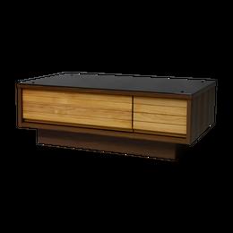 トラップ センターテーブル 100 (ナチュラル+ミディアムブラウン) / TRAP CENTER TABLE 100 (NA+MBR)