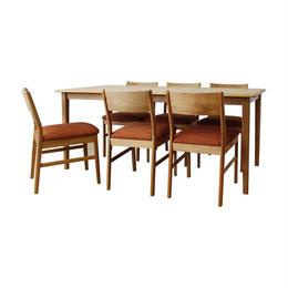 エリス 165ダイニング7点セット(生地:OR) / ERIS 165 DINING 7set