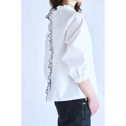 it / 追加予約①MELLOW FRILL BLOUSE (WHITE)