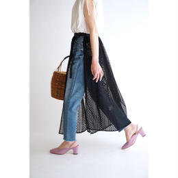it / 2way OVER LACE SKIRT (BLACK)