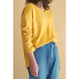 it / SHAGGY V-NECK PULLOVER (YELLOW)