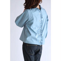 it / MELLOW FRILL BLOUSE (BLUE)