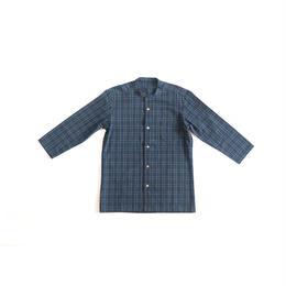 [メンズシャツ]コットン/藍染・柿渋チェック