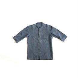[メンズシャツ]コットン/藍染シャンブレー