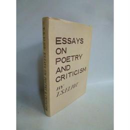 【中古】 [代引不可]   ESSAYS ON POETRY AND CRITICISM   185-179SK