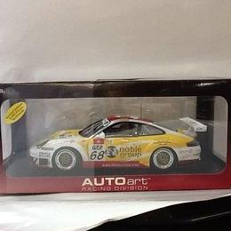 【新品】1/18 レーシングシリーズ ポルシェ 911(996) '05 GT3RSR 珠海 #68(イエロー)  ss1709-52