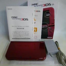 【中古】 New ニンテンドー 3DSLL 本体 メタリックレッド 充電器付き 186-252SK