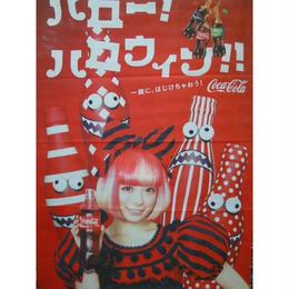 【中古】コカ・コーラ きゃりーぱみゅぱみゅ ハロウィン タペストリー 189-38SK