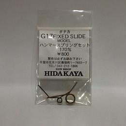【新品】日高屋 タナカ G17 FIXED SLIDE MODEL ハンマースプリングセット170% ss1809-106