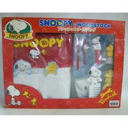 【中古】スヌーピー ファッションメイクバッグ SNOOPY & WOODSTOCK タカラ 188-236SK