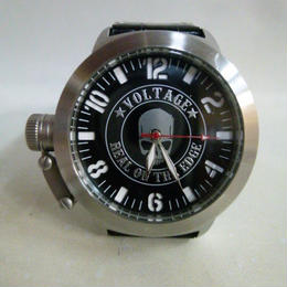 【中古】 ヴォルテージ VOLTAGE 腕時計 クオーツ レジスト スカル文字盤 10気圧防水  1712-380SK