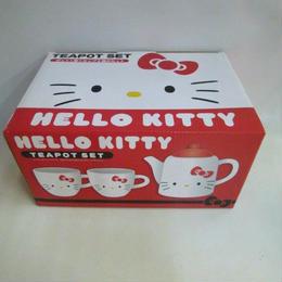 【中古】【未使用】 HELLO KITTY  TEA POT SET(ハローキティ ティーポットセット)    183-364SK
