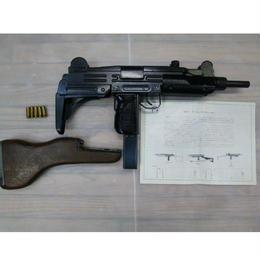 【中古】 マルシン ウージー 金属モデルガン UZI 木製ストック付き SMG 刻印有り 188-302SK