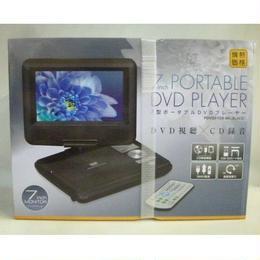 【未使用】 7型 ポータブル DVD プレイヤー7inch PORTABLE DVD PLAYER・PDVDJ-708-BK 179-428SK
