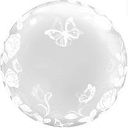 J29718:デコバブル / エレガントローズ&バタフライ(5枚)  0201451011