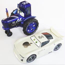 ディズニー・ピクサー カーズ  クロスロード CARS3 1/43   2PC  J.P. Drive & Mood Springs Tractor