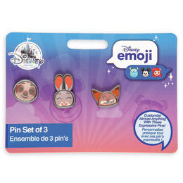 ズートピア ピンバッジセット Disney Store  Zootopia Disney Emoji Mini Pin Set
