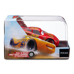 ディズニー・ピクサー カーズ   CARS 1/43  Pull 'N' Race Die Cast Car Lightning McQueen