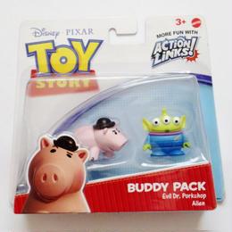 2010年 トイストーリー  バディパック シリーズ Dr.ポークチョップ/エイリアン TOY STORY Mattel Budy Pack  Dr.Porkchop/Alien