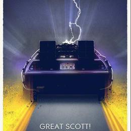 バックトゥザフューチャー「Great Scott 」アート  プリント Back To The Future Great Scott Art Print